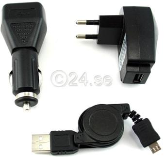 3i1 Lader mikro USB til Sony EricssonHTC NokiaSamsung Kjøp på 24h