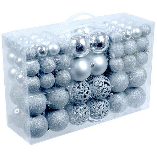 Julekuler 100 stk Sølv