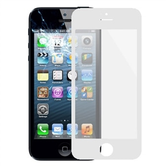 Displayglass til iPhone 5/5s - Hvit farge