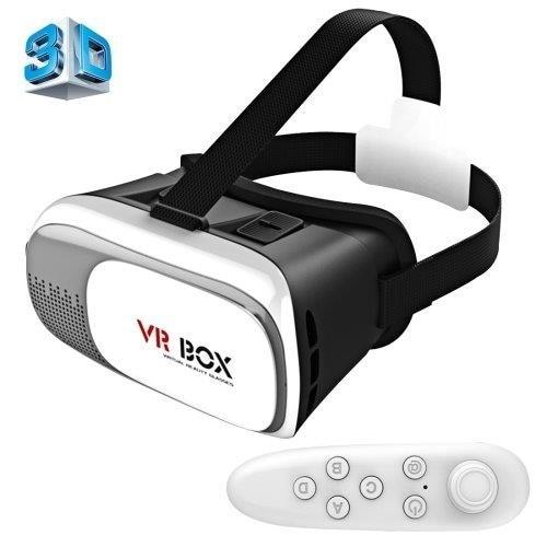 VR BOKS 2.0 3D Briller med Bluetooth & Remote - 3,5-6