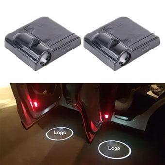 LED dørbelysning med VOLVO logo 2-pk