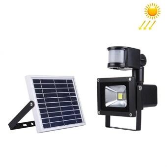 Solcelledrevet LED-Lampe Utebelysning 10W med bevegelsessensor