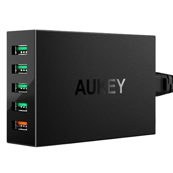 AUKEY PA-T15 5-Port USB vegglader Quick Charge 3.0
