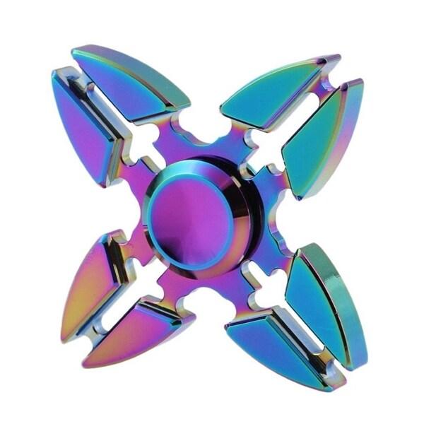 Fargeglad Fidget Spinner Metall- Krabbedesign