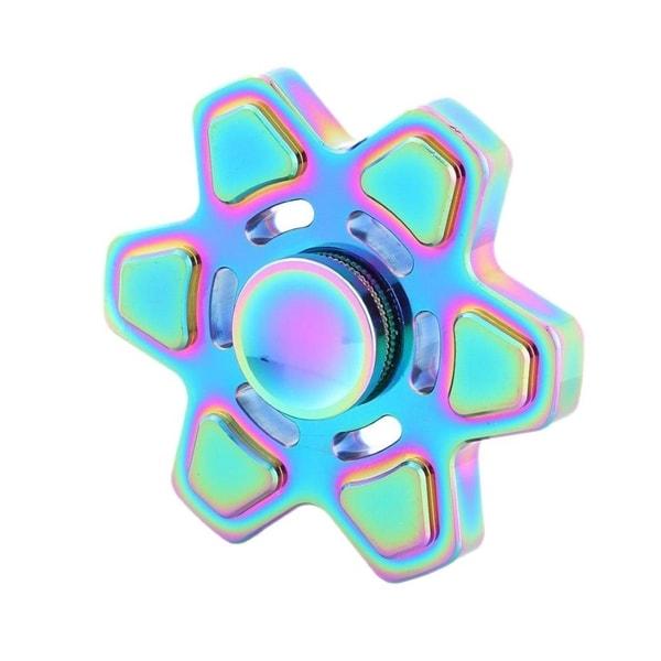 Fidget spinner stressleke i metall - sekskantet stjerne