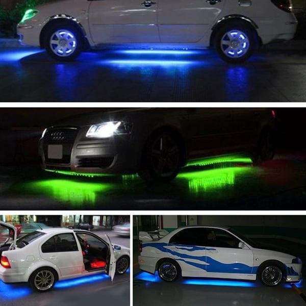 LED belysning till bil med fjärr Blinkar i takt med
