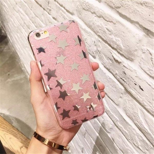 Stjernedeksel iPhone 7  rosa