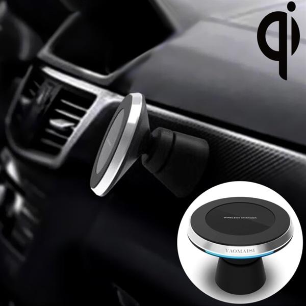 Trådløs lader til bilen magnetisk bilholder med rask