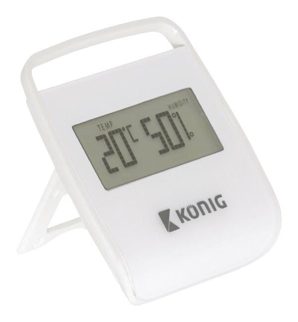 König Termometer / Hygrometer Innendørs Hvit