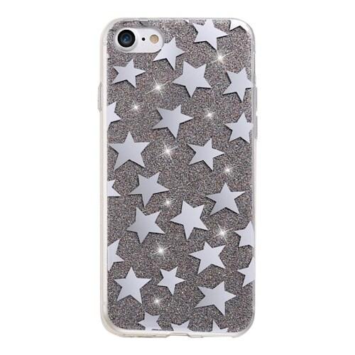 Glitterdeksel stjerner iPhone 6 / iPhone 6s svart