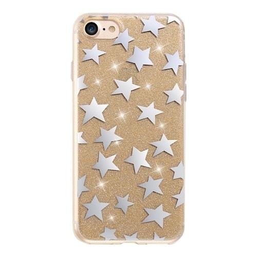 Glitterdeksel stjerner iPhone 6 / iPhone 6s gull