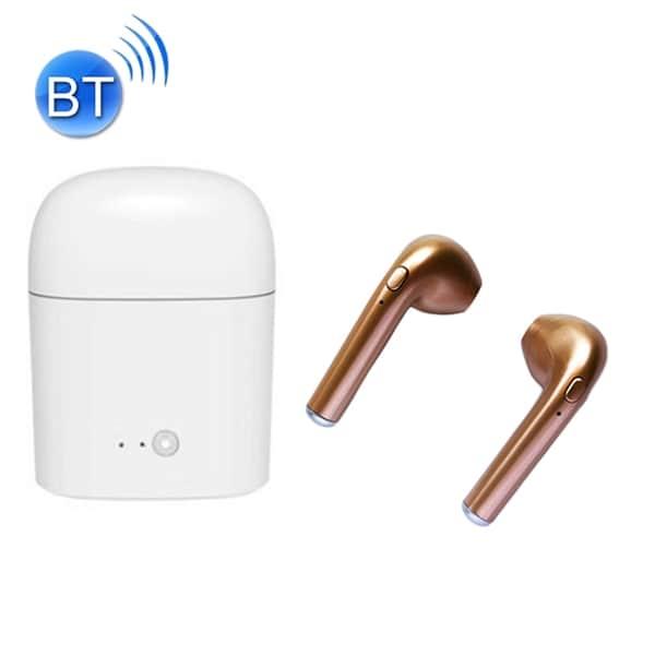 Trådløse Bluetooth 4.2 Earbuds Stereo Headset med ladestasjon