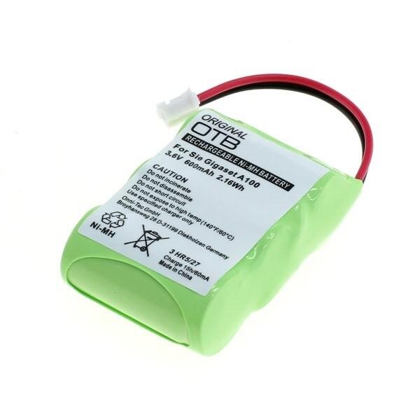 Batteripakke 2xAAA for Siemens Gigaset 100 / Gigaset A100 mm