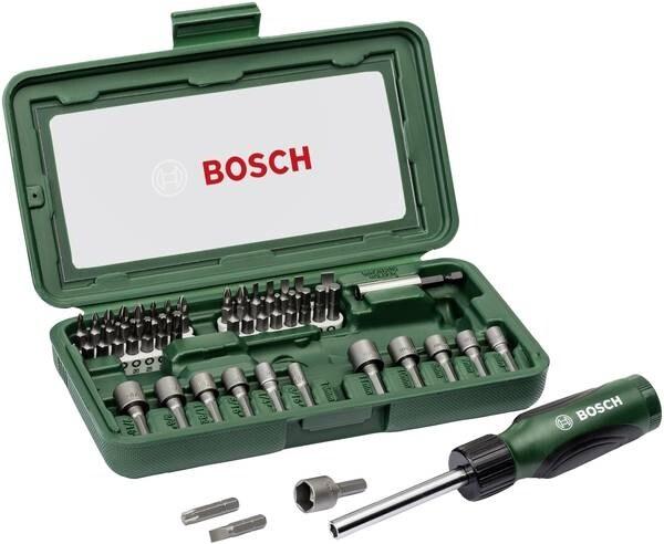 Bosch Skrutrekker og Bitssett - 46 deler