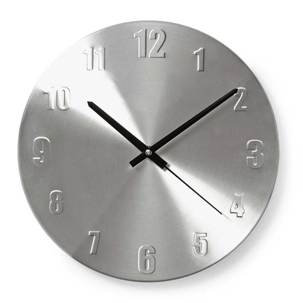 Nedis Rund veggklokke, 30 cm diameter - Aluminium