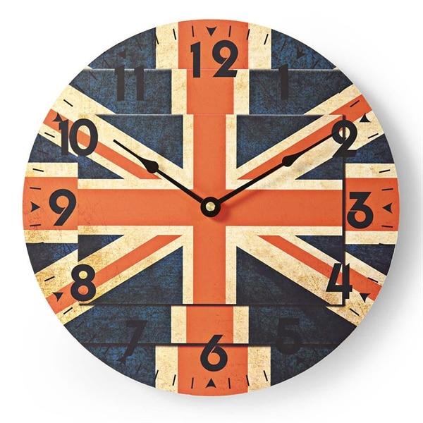Nedis Rund veggklokke, 30 cm diameter, Union Jack