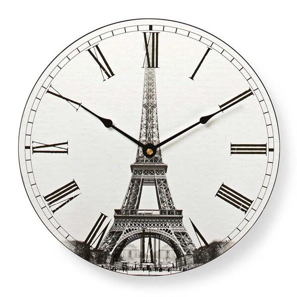 Rund veggklokke, 30 cm, Eiffeltårnet