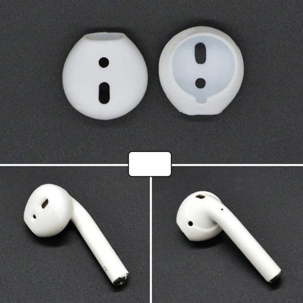 Silikon Earpads til Apple AirPods Hvit