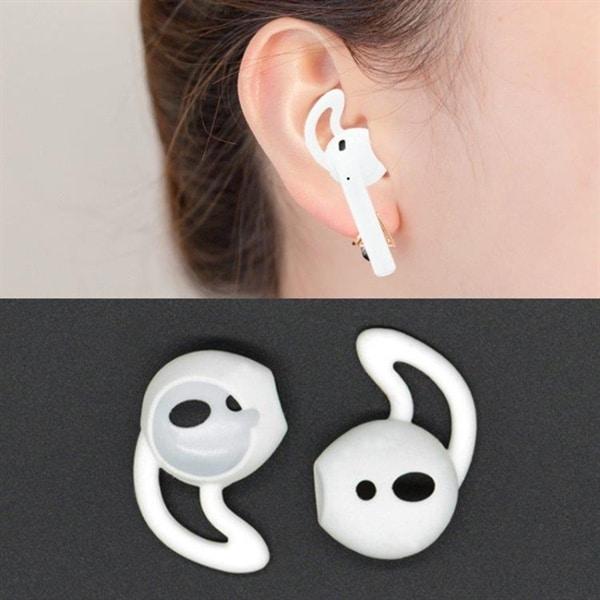 Silikon Earhooks til Apple AirPods Hvit