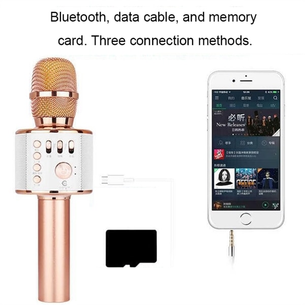 Karaokemikrofon Bluetooth Gull Kjøp på 24hshop.no