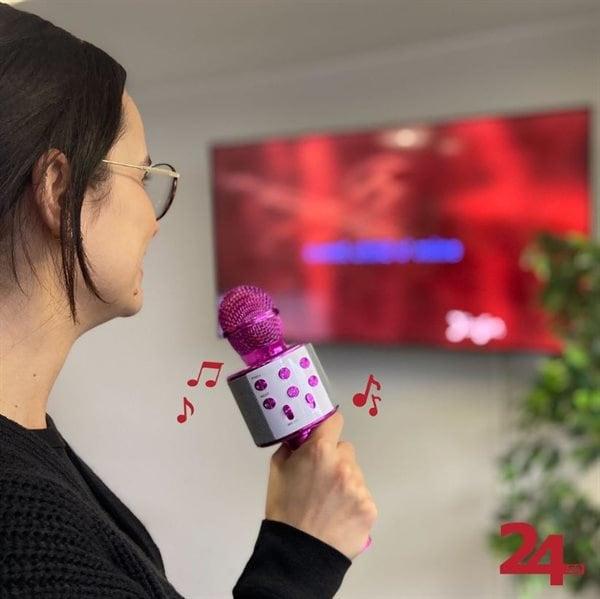 Karaokemikrofon Bluetooth Rosa Kjøp på 24hshop.no i 2020
