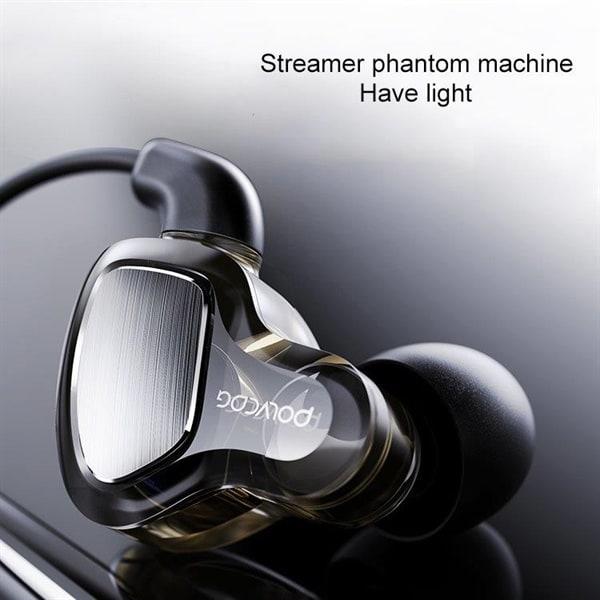 POLVCDG D6T Headset med mikrofon 3.5mm Kjøp på 24hshop.no