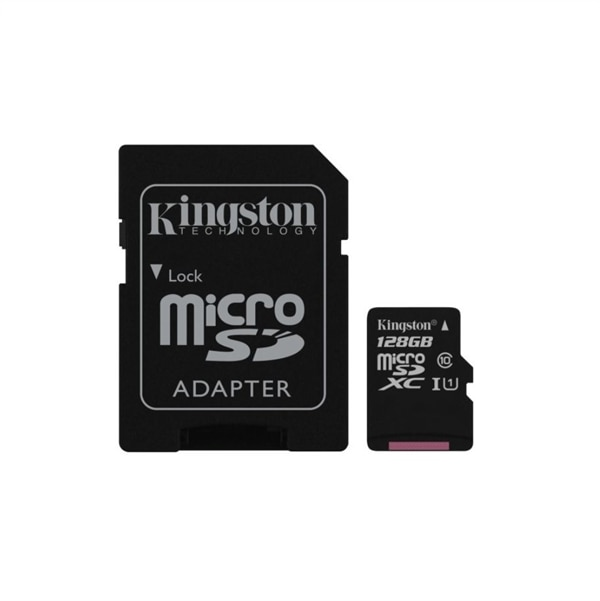 Bilde av 128gb Kingston Canvas Select Microsdhc Class 10 Uhs-i 80mb/s