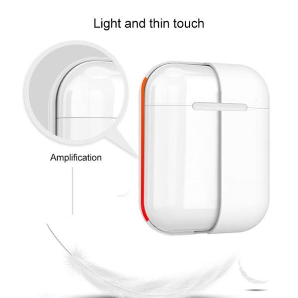 Beskyttelsedeksel silikon til Apple AirPods 1 2 Rosa