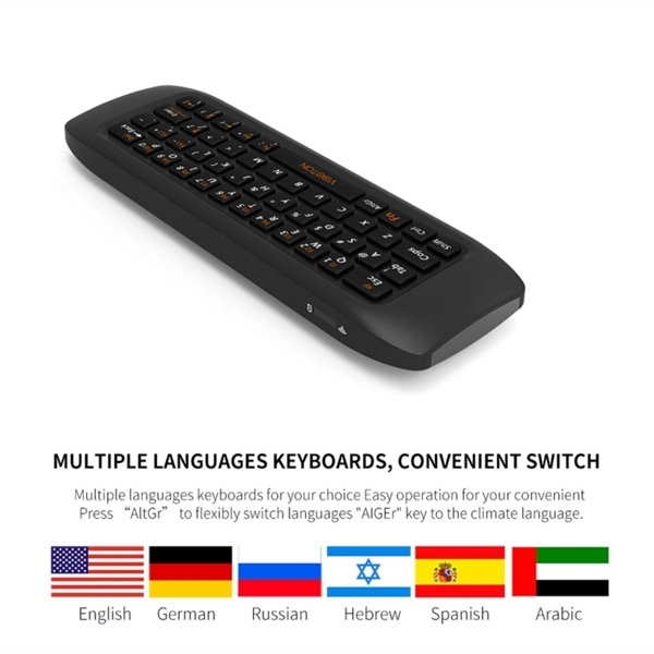 Arabic English 2.4 RF Mini Keyboard linux android windows