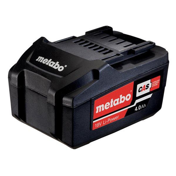 24hshop Metabo Batteripakke 18 V, 4,0 Ah, Li-Power