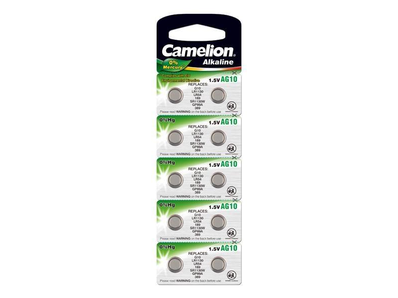 Camelion Knappcelle Batterier AG10 SR54 LR54 10 pk
